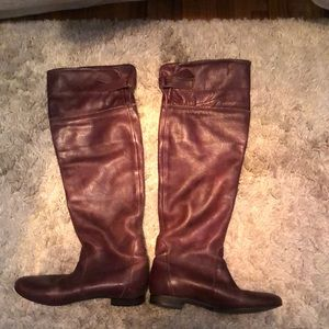 Barclay Leather Knee High Boots